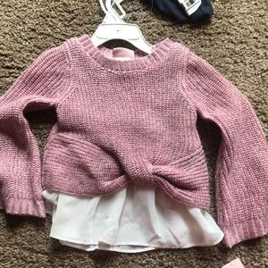 Little Lass Matching Sets - Little Lass 2-piece legging and sweater outfit